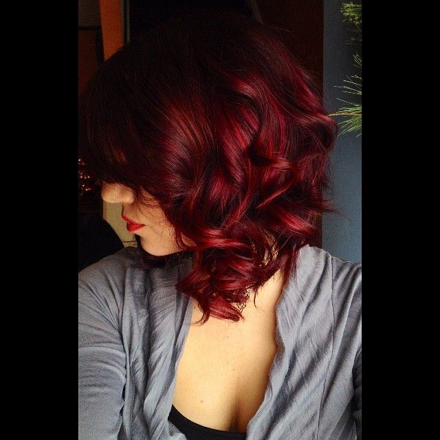 ♥♥ red #withhighlights Get this look and grow your hair longer, faster, fuller with Hair La Vie