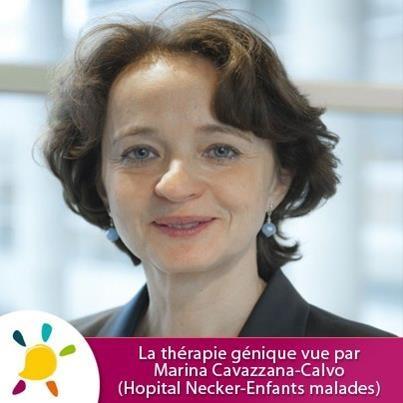 Nos amis Universcience.TV mettent à l'honneur Marina Cavazzana-Calvo, coordinatrice du Centre d'Investigation Clinique en Biothérapie (Hôpital Necker-Enfants Malades) et lauréate 2012 du prix Irène Joliot-Curie.     Voici un interview sur ses essais menés sur certains déficits immunitaires et la bêta-thalassémie, recherches soutenues par l'AFM-Téléthon : http://www.universcience.tv/video-la-therapie-genique-vue-par-marina-cavazzana-calvo-5523.html