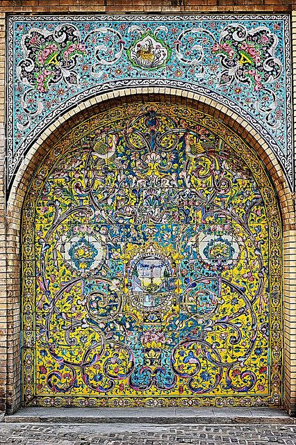 Golestan Palace detail - Tehran Iran