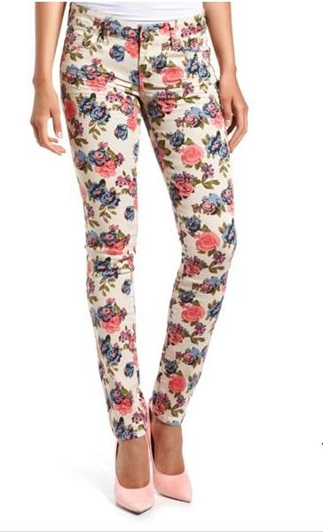 Hot Kiss Floral Print Skinny Jean
