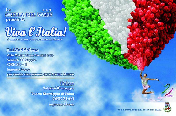 Viva l'Italia! Spettacolo ginnastica ritmica Teatro Montiggia 30 maggio