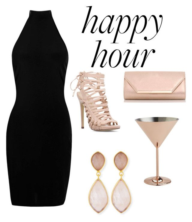 """A Blushing Night"" by mcounts-1 on Polyvore featuring Boohoo, Pier 1 Imports, Dorothy Perkins and Dina Mackney"