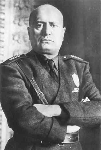 """Benito Amilcare Andrea Mussolini. """"Il Duce""""."""