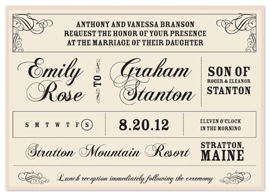 wedding invitations - Vintage Announcement by Casey Hooper