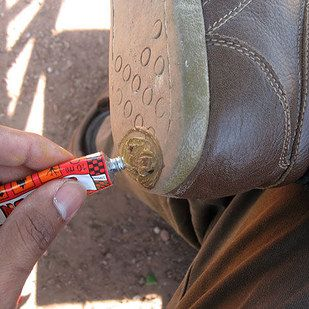 Patch up worn-out soles with a bike repair kit. | 21 Hacks Everyone Who Wears Clothes Should Know