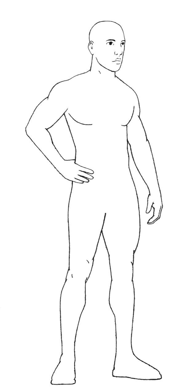 It is a picture of Simplicity Male Body Drawing Base