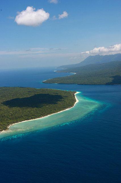 Aerial view of Nino Konis Santana National Park, Timor Indonesia