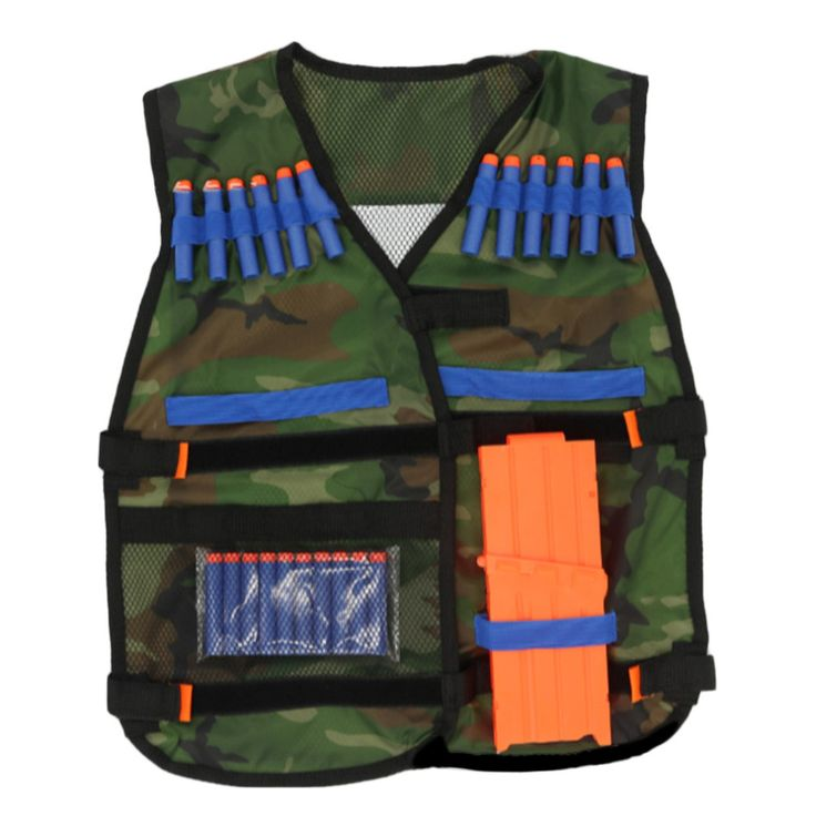 Outdoors Tactical Hunting Vest Kit For Nerf N-strike Elite Games Camping Military Adjustable strap storage pockets colete tatico