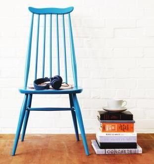 Errol Goldsmith | Dining Chair | Turquoise | Classic | Blue | florrieandbill.com | Reclaimed | Original | Contemporary | Vintage Industrial Furniture #ClippedOnIssuu from Warehouse home Issue Two