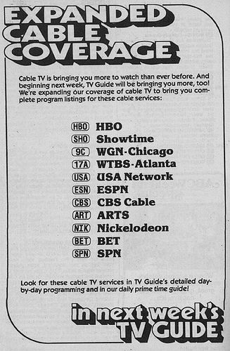 https://flic.kr/p/44MdLW | Tampa Bay Edition (January 23, 1982) | From my TV Guide collection.  Cable listings in TV Guide were rolled out slowly to various editions, and with a slightly different list of cable channels in each edition.