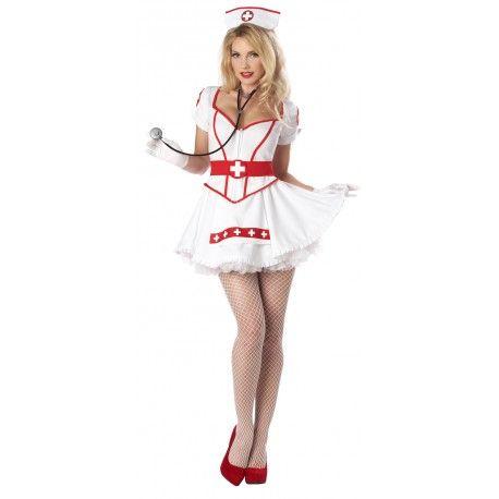 Fantasia Enfermeira Sexy Vermelho e Branco Saia de Tule Festa Halloween. Preço: R$89