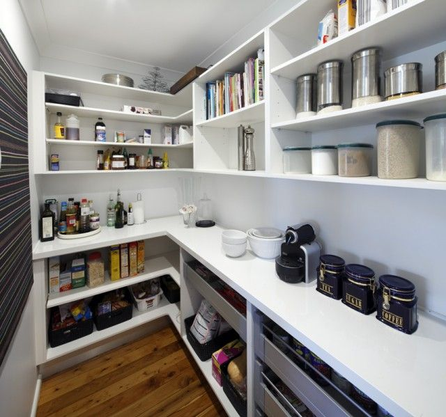 25 best ideas about walk in pantry on pinterest for Modern kitchen pantry
