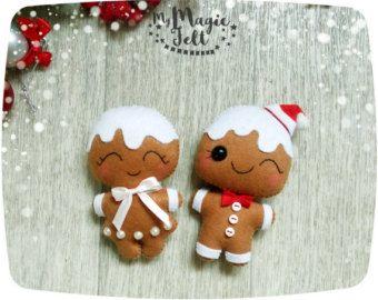 Décorations de Noël en feutrine ornement de que par MyMagicFelt