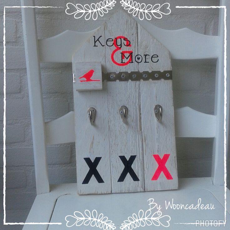 Keys & more sleutel en memombord. Handig voor als je nog wel eens iets vergeet of kwijt raakt. #Wooncadeau, alles handgamaakt!!!