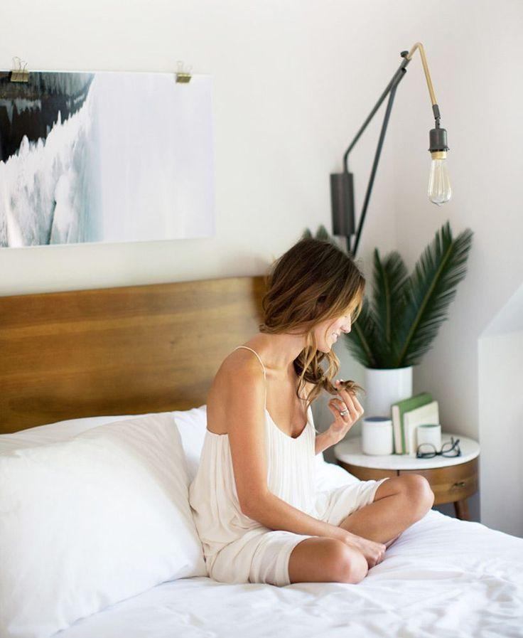 do you have a mantra? on Camille Styles, but I'm pinning it because I like the leaves on the nightstand