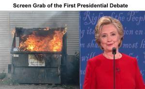 Funniest Presidential Debate Memes: Hillary Clinton vs. Dumpster Fire