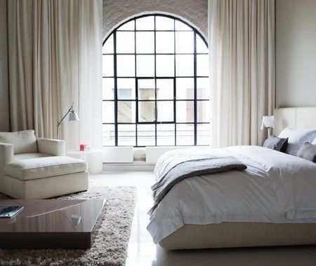 : Big Window, Photos Galleries, Bedrooms Window, White Bedrooms, Window Treatments, Steel Window, Design Home, Bright Bedrooms, Beautiful Bedrooms