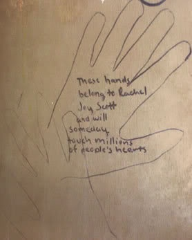 These are the hands of Rachel Joy Scott and will someday touch millions of people's hearts.