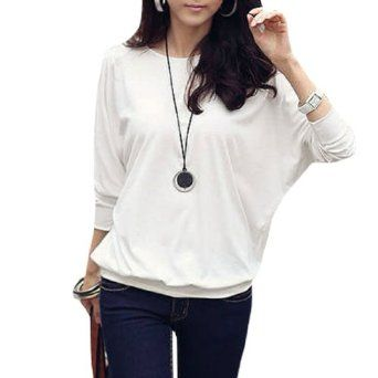 Women Round Neck Mesh Decor Sleeve Autumn Loose Shirt #shirt #loose #sleeve #fashion #allegrak