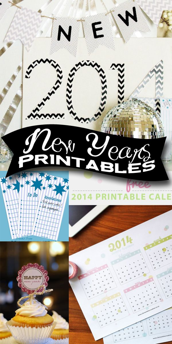 Party On! …It's Almost 2014!! New Years Printables #newyearsprintables