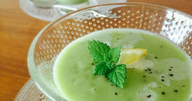 フランス料理の本格冷製スープ。食物繊維やビタミン類を多く含む為、美容やダイエットにぴったりの一品☆(写真差し替えました)