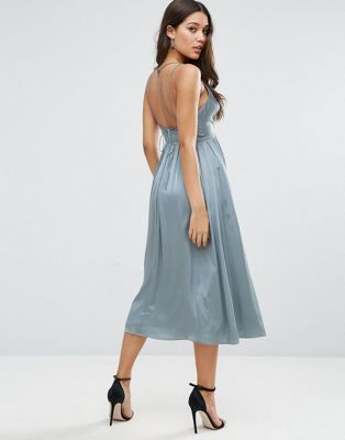 ASOS Midi Dress With Delicate Strap Back