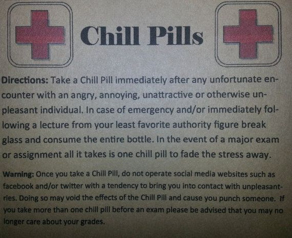 photo regarding Printable Chill Pill Label identified as 100+ Chill Tablet Label Downloadable yasminroohi