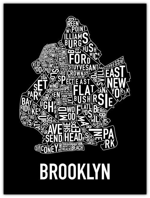 Brooklyn Neighborhoods Poster | StyleCaster