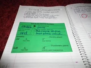 Teacher Blog: beautiful examples of math notebooks