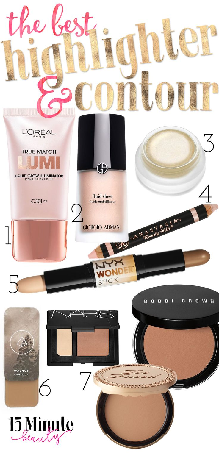 The Best Highlighting and Contouring Makeup