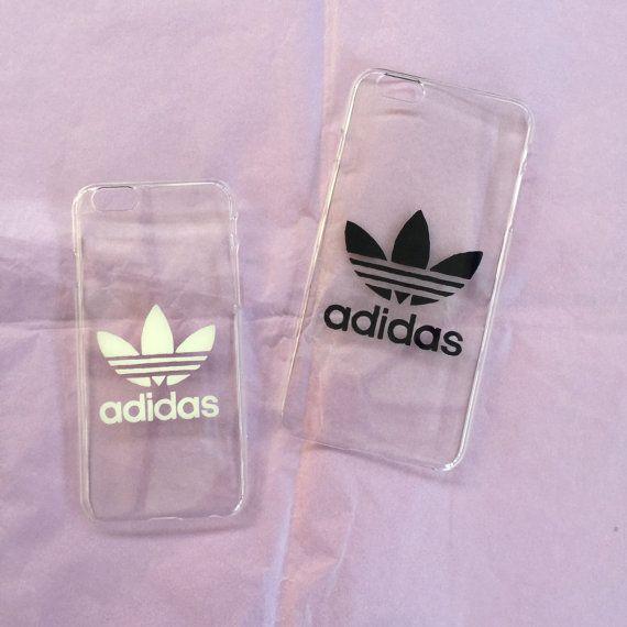 Fundas de IPhone 5 y 6 by transparentes con logo de Adidas en blanco y negro