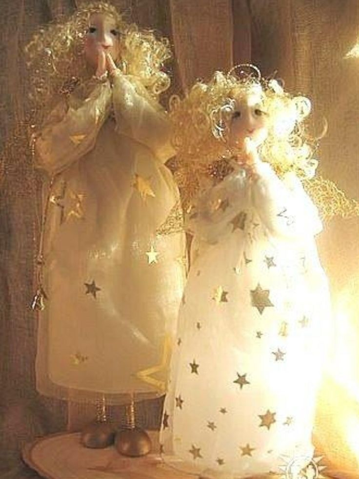 Мои первые рождественские ангелы, сделанные к ярмарке