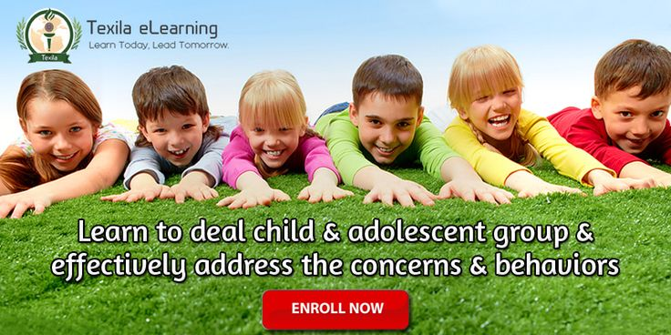 Learn to deal child and adolescent group and effectively address the concerns and behaviors. #TexilaeLearning #OnlineCourses http://www.texilaedu.org/product/certificate-child-adolescent/