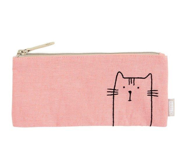 Or you could store your pens in this pencil case: | 18 Adorable Stationery Items You Need If You're Obsessed With Cats