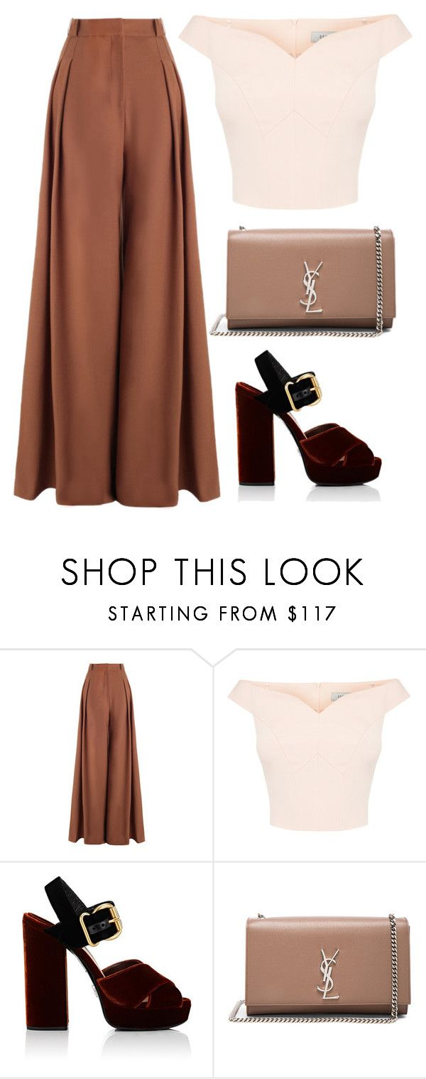 """""""Untitled #201"""" by pehpalad ❤ liked on Polyvore featuring Zimmermann, Prada and Yves Saint Laurent"""
