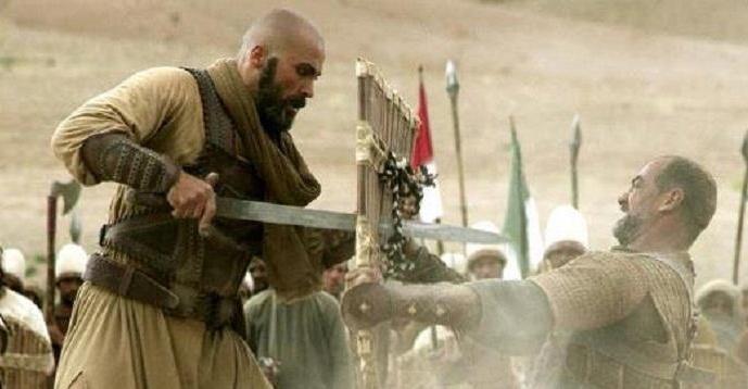 """Mehyar Khaddour as Khalid Ibn Al Walid in """"Omar """" TV"""