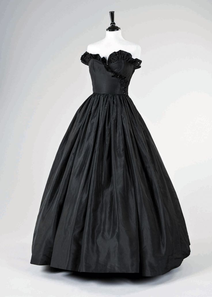 Black taffeta ball gown worn by the late Diana, Princess of Wales in 1981. Designed by David and Elizabeth Emanuel auctioned recently for $300,000.