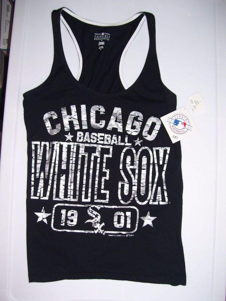 Chicago White Sox Baseball Tank XS Black Silver 1901 Campus Lifestyle 2017 #GenuineMerchandise #ChicagoWhiteSox