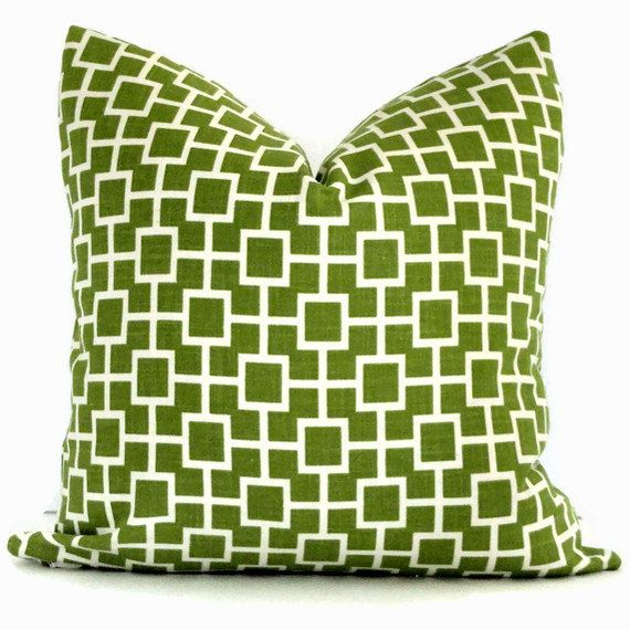 green and white domino decorative pillow covers