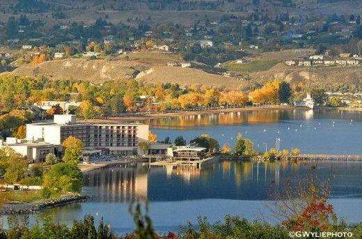Penticton view of the Lakeside Resort on Okanagan Lake.