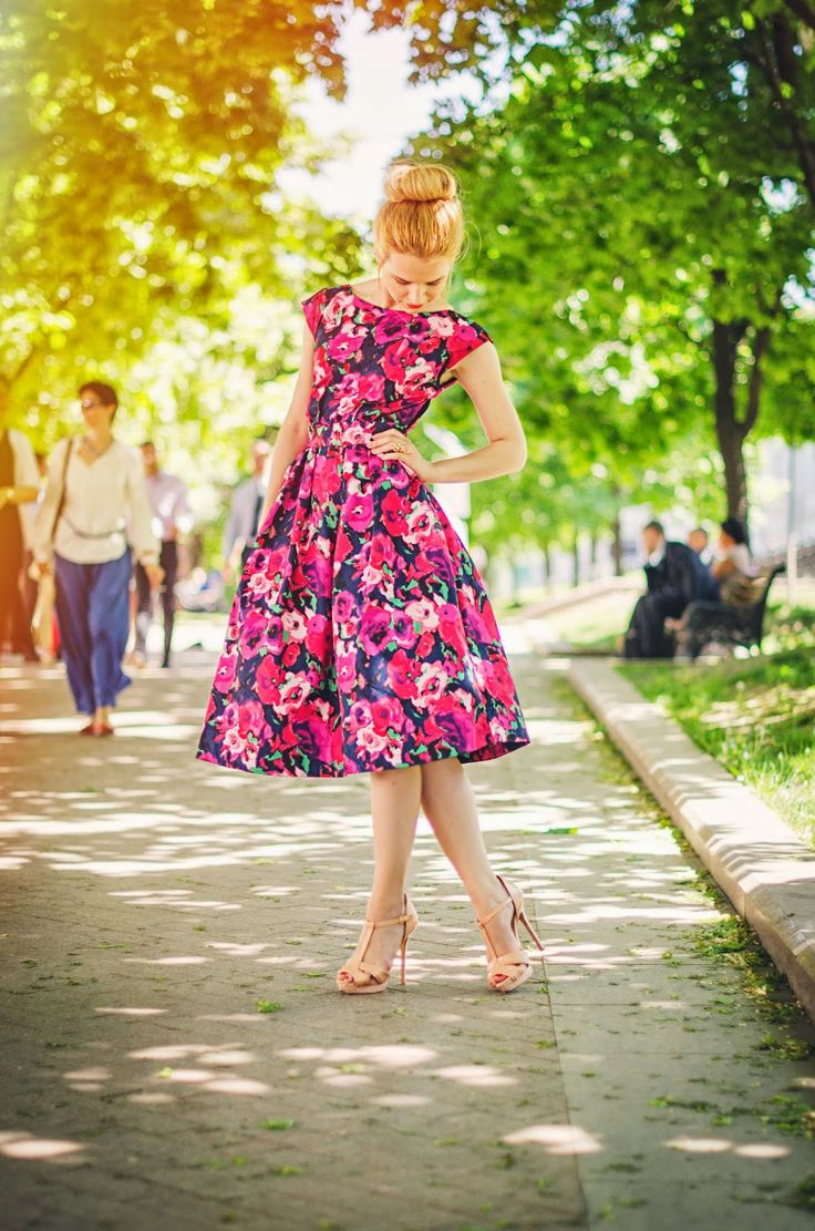 Summer floral style #dress