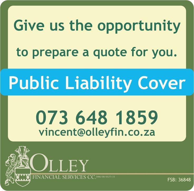 Need public liability cover?