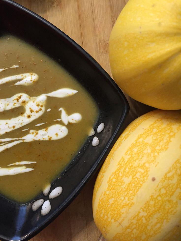 Curried spaghetti squash soup.