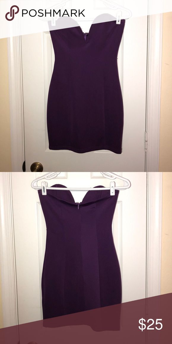Purple Mini Bodycon Dress Purple Mini dress from Tobi Tobi Dresses Mini