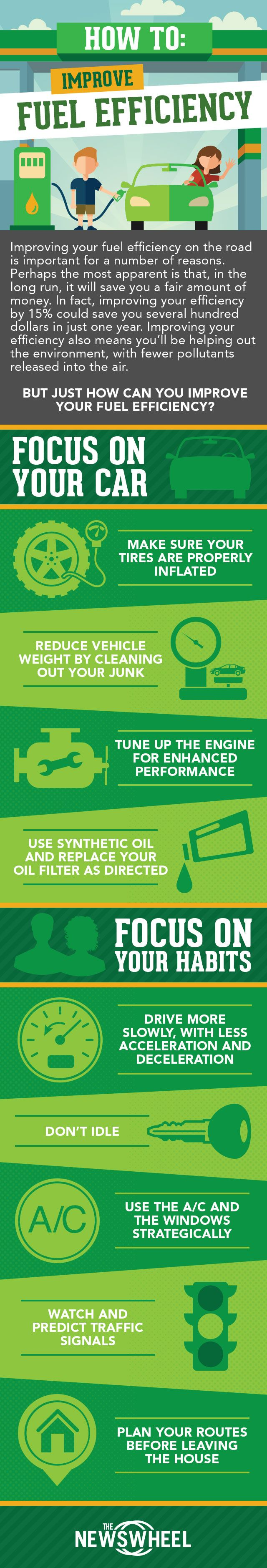 How to improve your fuel efficiency fuel efficiency infographic