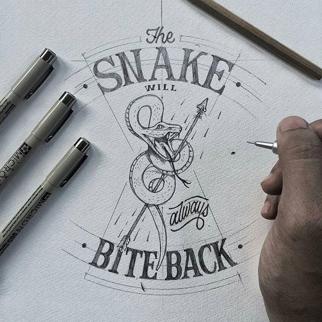 Illustration and lettering by @khairulitie
