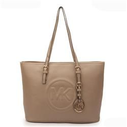 Michael Kors Jet Set Big Logo Large Apricot Totes