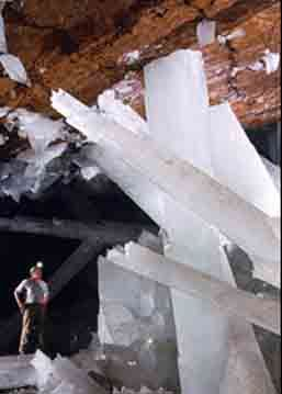 The chamber holding these crystals is known as the Crystal Cave of Giants, and is approximately 1000 feet down in the limestone host rock of the mine.