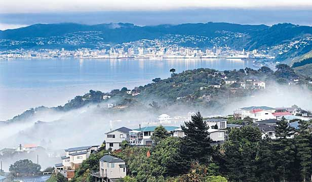 Wellington, New Zealand. Morning Mists