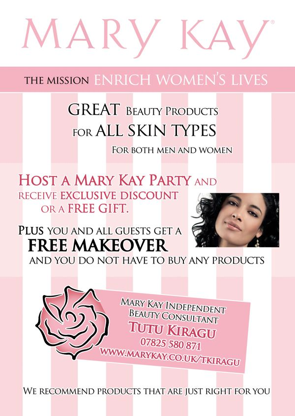 mary kay promotional flyers